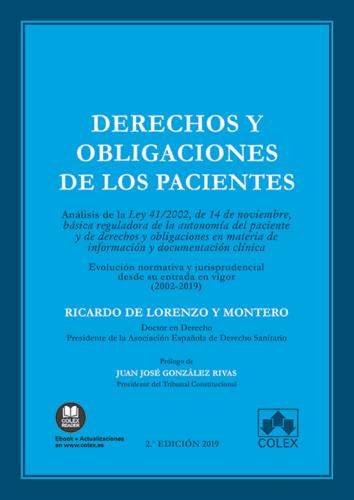 YA DISPONIBLE EL LIBRO 'DERECHOS Y OBLIGACIONES DE LOS PACIENTES'